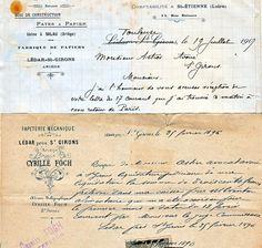 Dans les archives personnelles de Pierre Maurel, ces deux lettres du 19 juillet 1907 et du 25 février 1896 témoignages du passé de l'usine de Lédar.