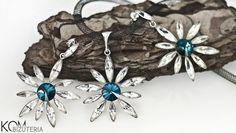 FLOWER v.1 Jewelry set - Silver and Swarovski from KOM Bizuteria by DaWanda.com