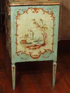 19th Century Painted Italian Commode