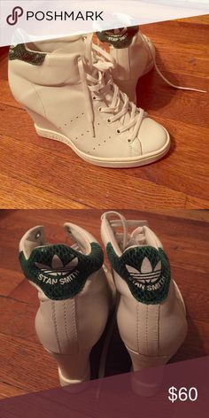 Special edition Adidas Stan Smith wedge sneakers Wedge sneakers Adidas Shoes Athletic Shoes