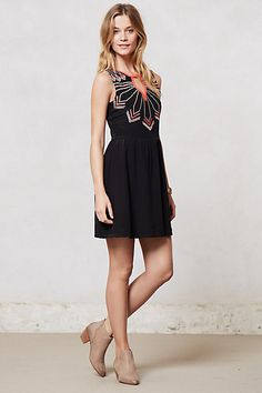 Embroidered Loire Dress #anthropologie #anthrofave - i neeeed this in my closet. perfect for going out to see a band play.