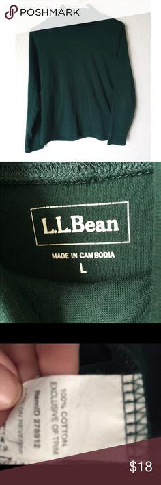 L.L. Bean green 100% cotton turtle neck L.L. Bean green large turtle neck 100% cotton L.L. Bean Tops