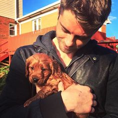 Sorry, I'm a dog person Rebecca Breeds, Lincoln Campbell, Shield Cast, Luke Mitchell, Baby Eyes, Man And Dog, Clint Barton, Movies Showing, Tattoo