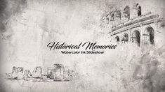 Historical Memories // Watercolor Ink Slideshow by Baburka-video Historical Memories // Watercolor Ink Slideshow dynamic, exciting media opener. Perfectly suitable for creating original demo After Effects Intro Templates, After Effects Projects, Mechanical Design, Color Correction, Motion Design, Watercolor And Ink, Motion Graphics, Overlays, Memories