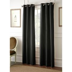 Turn day into night with the faux silk Shawn blackout window panels. Styled with versatility to accent any room, these specially crafted panels are woven to block out natural light by just pulling them closed. %0D%0A