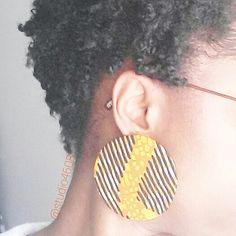 Large disk earrings, handmade by @studio4608