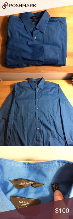 Paul smith London exclusive for barneys A Paul smith London shirt that was worn once made exclusively for barneys nyc the color is cobalt blue and it has real mother of pearl buttons Paul Smith Shirts Dress Shirts