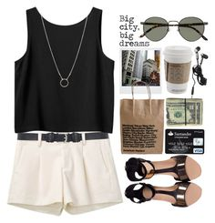 """""""Big city, big dreams"""" by maartinavg ❤ liked on Polyvore featuring Uniqlo, Dorothy Perkins, Monki, Polaroid, Minty Meets Munt, Hot Topic, Dogeared and Persol"""