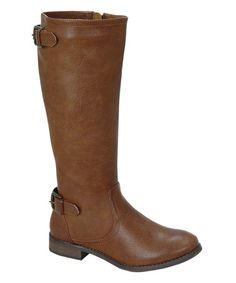 Another great find on #zulily! Cognac Double-Buckle Jayne Boot #zulilyfinds