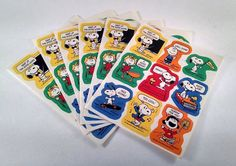 6 Sheets Of Vintage Peanuts Stickers. 54 Snoopy and Charlie Brown Schulz Retro