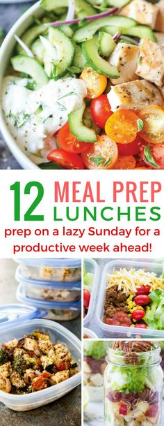 These meal prep lunch ideas are delicious and stop us getting bored and giving up!