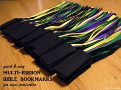 kai ta hetera: quick & easy, no-sew, multi-ribbon Bible bookmarks for mass production