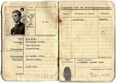 "Bas Jan Ader's sailing passport Bas Jan's boyhood sailing permit recently resurfaced, issued July of Inside it is a note written by his mother, reading ""Mrs. Ader Appels gives her son, Bastiaan Johan Christiaan Ader permission to go to sea. Ader, Contemporary Photography, Mark Making, Layout Inspiration, Book Pages, Contemporary Artists, Book Design, Photo Book, Inspire Me"
