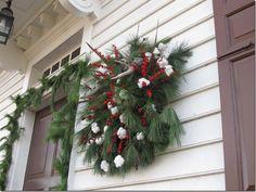 Cotton Bolls on wreath! love it!