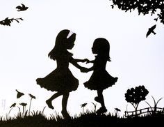 Sibling silhouette artist - love this! Can't wait to make my girls pose.