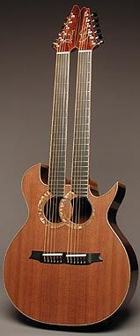 Double neck guitar by Doolin Guitars