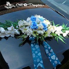 decoration voiture mariage bleu roi