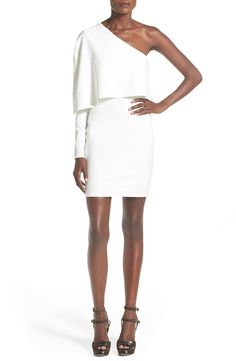 A drapey popover bodice and a one-shoulder neckline put a modern twist on a sexy LWD that is perfectly suited for nights on the dance floor. @nordstrom
