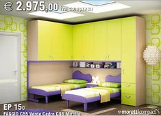 camerette per bambini doppie - Cerca con Google Modern Kids Bedroom, Girls Bedroom, Built In Bed, Bedroom Paint Colors, Awesome Bedrooms, Kid Spaces, Modern House Design, Decoration, Bedroom Remodeling