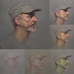 """Randy "", step by step demo. Pastel on Sennelier la carte sanded paper. #workshop #sennelier #art #drawing #painting #portrait #portraiture #pastelpencils #pastel #artteacher #arttutorial"
