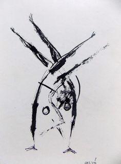 CAPOEIRA Angola, de Waldeloir Rego, drawing by CARYBÉ.