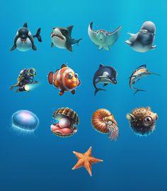 Sea world by Illustrator Ivan Gorda Illustrations Detail page Myartpin