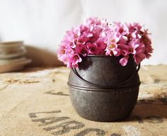 French Pot Pail Rustic Country decor