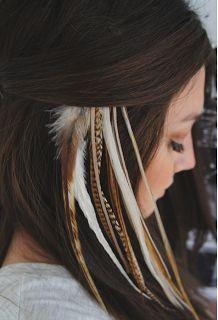 hair feathers <3