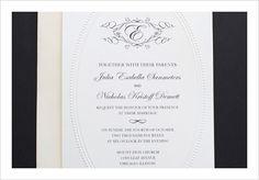 Monogram Free Printable Wedding Invitation Templates