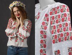 100% handmade embroidery - the Romanian blouse - ie romaneasca - bohemian top - boho chick