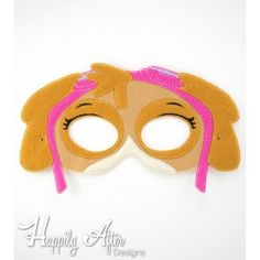 Goggles Puppy Mask ITH Embroidery Design