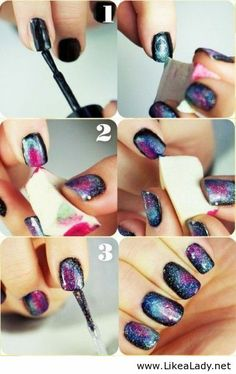 DIY galaxy nails. Tutorial. Nail Art. Nail Design. Polishes. Polish. Polished.