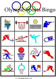 Olympic Games for Kids - Free Printable Bingo Boards