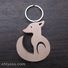 Wooden Keychain small Wolf, handmade in scribing Scroll Pattern, Scroll Saw Patterns, Laser Cutter Ideas, Wood Burning Patterns, 3d Laser, Wooden Animals, Wood Necklace, Bone Carving, Wooden Gifts