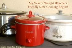 An entire year of Weight Watcher crock pot recipes! She started in October 2013 and is creating a new recipe every day for a year!