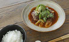 四川風ハンバーグのレシピ-花椒の風味が楽しい、ピリ辛ハンバーグ-SHIORIさん | Kurashi Grains, Rice, Ethnic Recipes, Food, Essen, Meals, Seeds, Yemek, Laughter