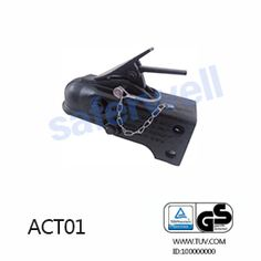 Description: Ball coupler is made of sturdy steel and plated with black powder coat for corrosion resistance. eZ-Latch ensures fast, easy, secure hookup and disconnect.
