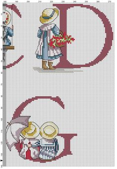 Cross stitch / Point de croix / Punto cruz / Punto croce  All Our Yesterdays ABC Sampler / abecedaire / abecedario / alfabeto.  Chart with only color blocks