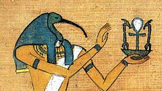 """Thoth was the god of knowledge. Image Source: """"Thoth."""" Godslave -. N.p., n.d. Web. 03 May 2016. <http://www.godslavecomic.com/thoth>."""