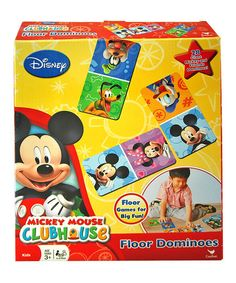 Another great find on #zulily! Mickey Mouse Clubhouse Floor Dominoes Set by Mickey Mouse #zulilyfinds