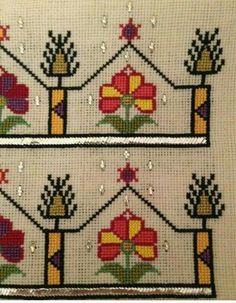 Neşe'nin gözdeleri Palestinian Embroidery, Folk Embroidery, Bargello, Knitting For Kids, Handicraft, Cross Stitch Patterns, Diy And Crafts, Projects To Try, Blackwork