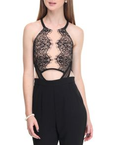Find Open Keyhole Back Lace Overlay Jumpsuit Women's Jumpsuits from SHINESTAR & more at DrJays. on Drjays.com