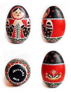 matryoshka - black and red