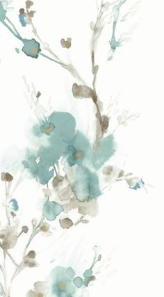 CHARM wallpaper by Candice Olson for York Wallcoverings. Abstract Watercolor Art, Watercolor Wallpaper, Flower Wallpaper, Watercolor Print, Pattern Wallpaper, Watercolor Flowers, Watercolor Paintings, Iphone Background Wallpaper, Pretty Wallpapers