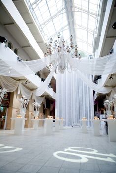 White party theme  open space, mixer style, Love It