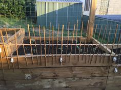 Perfect way to keep the chooks out of the veggie patch. Simply build these cheap scratch gates with bamboo and cable ties. Use pvc pip connectors to sit them in for easy removal when you need to tend to the garden.