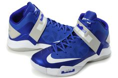 467a5c60824c Nike Zoom Soldier VI 6 Royal Blue White Grey Kobe Shoes