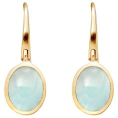 Astley Clarke Colour Cadenza 18ct Gold Vermeil Earrings , Milky Aqua... (285 BAM) ❤ liked on Polyvore featuring jewelry, earrings, jeweller, milky aqua quartz, bezel set earrings, astley clarke, flower jewellery, aqua jewelry and hook earrings