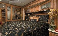 Luxurious Motorhomes Interior | Newmar Essex diesel pusher luxury motorhome interior - bedroom