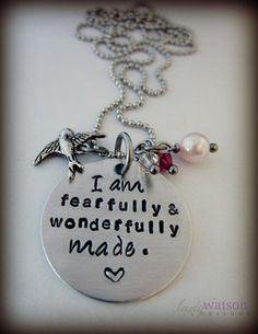 Bible Verse Jewelry Hand Stamped Necklace by LadyWatsonDesigns, $23.00...Love Scripture!!